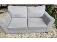 Grey 2 seater sofa + cuddle chair