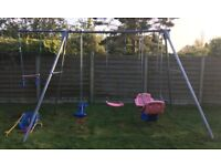 Christmas! Good Condition Metal TP Triple Swing & Extension with 5 Attachments Inc. 2 double swings
