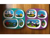 Mr men little miss plates x2
