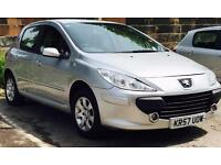 2007 ( DEC07) PEUGEOT 1.4 307 - PETROL - LONG MOT - LOW MILES - MANUAL - SILVER