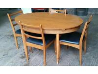 Shreiber Retro Extendable Dining Table and Chairs