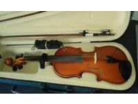 OFFERS ACCEPTED. Primavera 150 Violin Outfit 3/4 size with case & 2 size bow's.