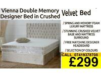 Designer Double Single Kingsize Bed With Variety Of Mattresses