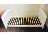 White Cotbed. Have all pieces for cot and cotbed. Excellent Condition.