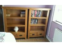 2X solid oak book cases nearly new!