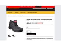 Ex con Centek men's FS83 black safety work boots size 7