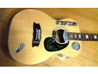 HOKADA , VINTAGE, ELECTRIC/ACOUSTIC DIY BUILD. ONE OFF GUITAR