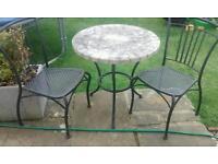 Garden bistro set / table and chairs / garden furniture