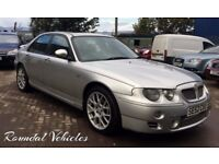 NOW REDUCED!! MG ZT 2.5 V6 silver, charcoal half leather sport int, hist, 2 keys 12 mths mot