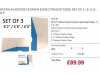 REFINA PLASTERS FEATHER EDGE STRAIGHT EDGE SET OF 3 - 8', 6 ½', & 6'