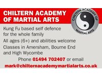Chiltern Academy of Martial Arts (Amersham) -kung fu based self defence for the whole family (5+)