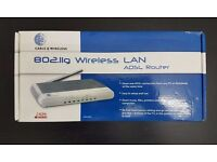 Cable and Wireless 802.11g Wireless LAN ADSL Router New In Box