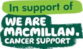 Charitable donations needed! In aid of MacMillan Cancer Support