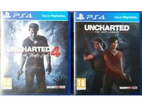 PS4 Games, Uncharted 4 & Lost Legacy