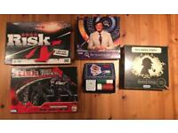 Board games £15 (or £5 each): Risk, Transformers Risk, QI, Sherlock Holmes, Poker set