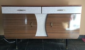 Retro 50s/60s Formica sideboard with original fittings