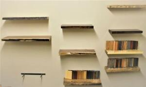 Solid Maple, Reclaimed Barn Wood, Walnut Floating Shelves - FREE SHIPPING Across Canada