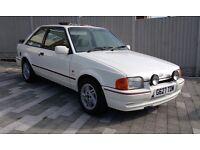 1990 FORD ESCORT XR3i WHITE - EFI 90 spec, Rare Totally Original With Full MOT