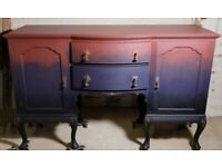 Vintage Painted Chippendale Style Sideboard