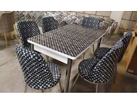 New Design Dining Table With Luxury Chairs Available Now