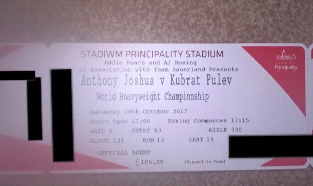 Anthony Joshua V Kubrat Pulev Tickets X6