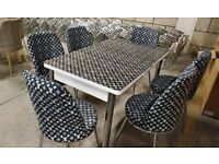 💥💯MEMORABLE DESIGNS SALE💥ON LOUIS VUITTON EXTENDABLE DINING TABLE WITH 6 CHAIRS