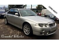 MG ZT 2.5 V6 silver, charcoal half leather sport int, hist, 2 keys 12 mths mot