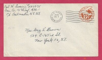 Can. Co., 18th Infantry - U.S. Army Postal Service A.P.O. 1 - 1945 - Scott #UC3
