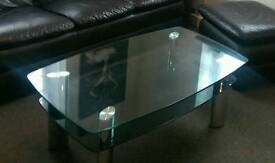 £25. Glass coffee table. Need gone today. Thank you. Can delivery.