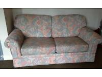 Sofa bed with metal fold out frame and matress