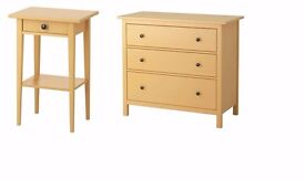 HEMNES Chest of 3 drawers & one bedside table
