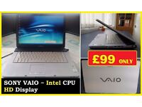SONY VAIO HD DISPLAY LAPTOP, 3 GIG RAM NOTEBOOK - INTERNET READY, ITS NOT APPLE HP DELL LENAVO IBM