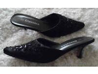Ladies Leather Shoes, Leather Ankle Boots & Beaded Mules. All Size 5. All worn only once.