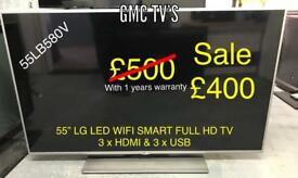 "55"" LG SMART LED with 1yrs warranty"