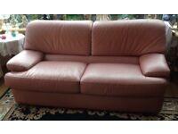 Like new 2 seater leather sofa