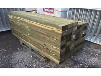 🌲Tanalised Wooden/ Timber Railway Sleepers ~ Various Sizes 🌲
