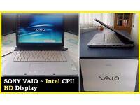 SONY VAIO HD DISPLAY LAPTOP, 3 GIG RAM NOTEBOOK - INTERNET READY, ITS NOT APPLE HP DELL LENAVO IBM