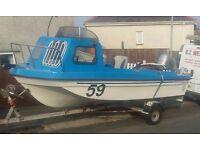Seahog shortie with 45 Honda four stroke fishing boat