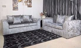 BRAND NEW DYLAN CRUSHED VELVET CORNER SOFA OR 3 AND 2 SOFA *** SAME DAY DELIVERY **
