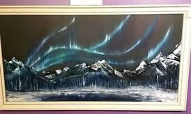Aurora's Dance Original Oil Painting