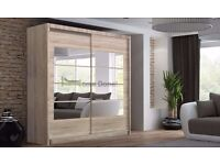 **7-DAY MONEY BACK GUARANTEE!** - Torrentino Sliding Door German Wardrobe - EXPRESS DELIVERY!
