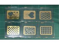 Sizzix embossing folder for die cutting machines Cuttlebug etc