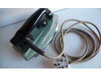 A RETRO 1950's MORPHY RICHARDS 750 watt VINTAGE ELECTRIC SAFETY IRON