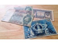 Old German Bank Notes x 5. £7.50