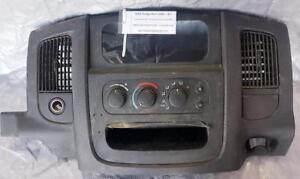 RADIO DASH BEZEL With TEMPERATURE CLIMATE CONTROL, 12V - LIGHTER and VENT for 2002 to 2008 DODGE RAM 1500 TRUCK $88