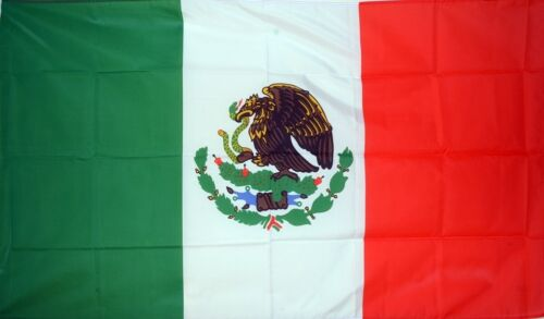 MEXICO LARGE FLAG 8 X 5 FEET flags MEXICAN Guadalajara Cancun flags