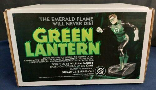 Green Lantern Hal Jordan Porcelain Statue William Paquet DC Direct Ltd 2500 NEW!