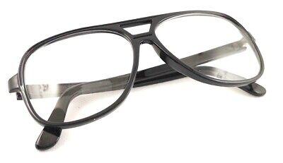 Nerd Brille Square filigran Aviator schwarz oder braun Damen oder Herren #239