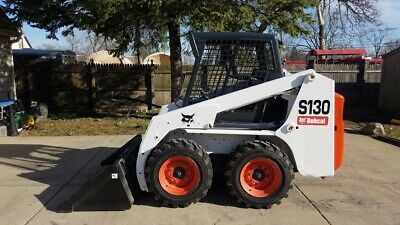 Bobcat S130 Skidsteer Skid Steer Loader Kubota Diesel Isoh Joysticks 2 Speed