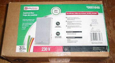 Utilitech Steel Well Control Box ~ 3/4 HP, 230V, 3-Wire-#UT304CB 3/4 Hp 230v Control